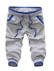 Men's Casual Simple Design  Cropped Sport  Pant