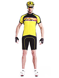 Men's Cycling Tops / Jerseys Short Sleeve Bike Spring / Summer Breathable / Quick Dry / Wearable / Windproof Yellow / Green L / XL / XXL