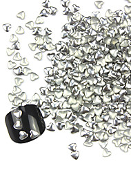 300PCS 3D Silver Love-heart Alloy Nail Art Golden&Silver Decorations