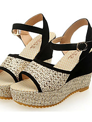 De las mujeres Sunfarey Casual tacón de cuña zapatos de tacón alto