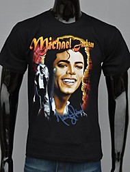 Heren Michael Famous Star Moon Gedrukte T-shirt