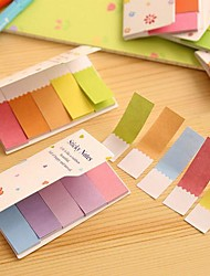 Gradient Rainbow Color Double Sides Self Stick Note