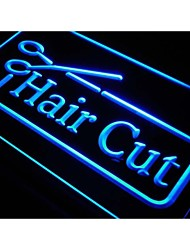 Hair Cut Barber Scissor Salon NR Neon Light Sign
