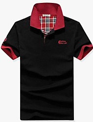 Men's Short Sleeve Polo , Cotton Casual/Work/Formal/Sport Pure