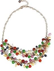 JANE PIEDRA Moda exquisito collar Cluster bolas de colores con el colgante de la Mujer