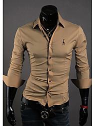 Revers unique poitrine T-shirt des hommes