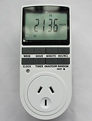 TIMER-AU Plug in Programable Timer Switch 24h 7 Day Week Digital LCD Display EC