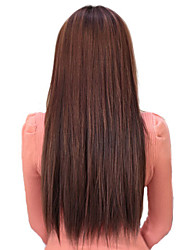 High Temperature Resistance Chocolate Brown 22 Inch Long Straight 5 Clip Hairpiece Extension