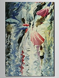 Hand Painted Oil Painting Landscape Rainning Morning with Stretched Frame