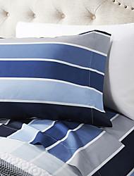 """Juego de sábanas de microfibra ,4-Piece Stripe Muti color con 12 """"Profundidad de bolsillo"""