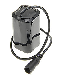 Vélo 4x18650 batterie + US Plug Power Adapter Set - Noir