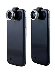 3in1 180°Fish Eye Lens+ Wide Angle + 0.67X Macro Clip Lens for iPhone 5 and Others