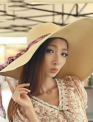 Mode de plage Femme Grande Eaves Mme Summer Sun Chapeau de paille