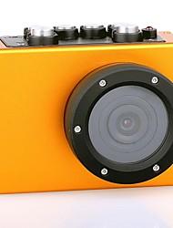 HD1080P - F35O  Wide Angle High Definition Mini Waterproof Sports Camera - Orange