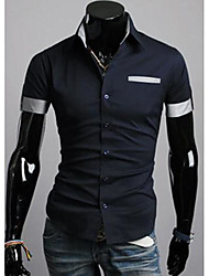 Men's Lapel Casual Short Sleeve Shirt
