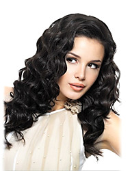 18inch Lace Front Wigs Indian Remy cheveux humains vague normale