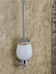 Estilo Contemporâneo acabamento cromado latão WC Escova Titular
