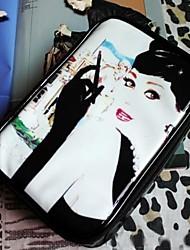 Women's Retro glamorous beauty waterproof cosmetic bag storage bag A-08 White Queen