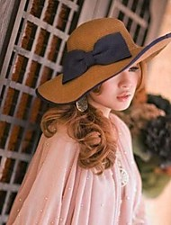 Mode bowknot chapeau de paille des femmes