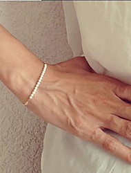 Shixin® European Pearl 23cm Women's White Pearl Strand Bracelet(1 Pc) Jewelry