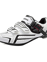 TIEBAO Unisex White+Black High Holding Power Road Bike Cycling Shoes