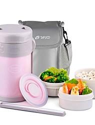 "Sweet Colors Insulation Lunch Box Suit,Plastic,L6""*W6""*H10"""
