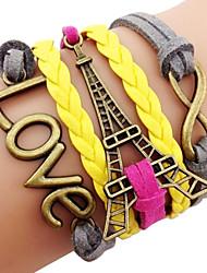 laiton anitque tour eiffel bracelet