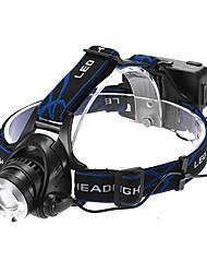 Освещение Налобные фонари LED 1200 Люмен 3 Режим Cree XM-L T6 18650 Фокусировка / Водонепроницаемый / Перезаряжаемый / самооборона