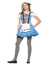 Adolescente Alice no vestido de fantasia Halloween Costume das maravilhas Mulheres