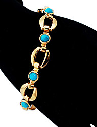 U7® New Turquoise Bracelets Bangles For Women 18K Real Gold Plated Jewelry Bangles Turkey Stone Jewellery