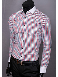 Debe Men's  Stripe Long Sleeve Shirt