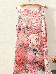 Women's Printing Sleeveless Fashion Flower Pattern Vest
