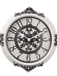 """20 """"H céramique de style rétro de couleur Horloge murale Blanc"""