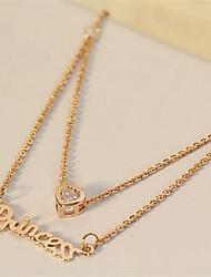 LILAIMEI женских Слова Любовь ожерелье