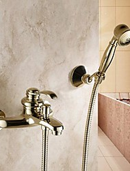 Shower Faucet / Bathtub Faucet Traditional Handshower Included Brass Ti-PVD