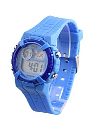 Time100 Children's LCD Multifunction Digital Dial PU Band Japaness Quartz Multifunction Outdoor Sport Watch