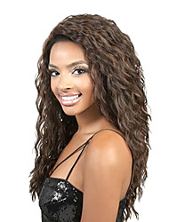 16inch noir Curly Indian Remy cheveux humains perruque Lace Front