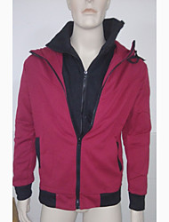 Mode DJJM hommes cultivent son Loisirs Cardigan à capuche en molleton Frapper Scène (Rouge)