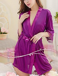 Donna Lingerie ghiaccio femminile domestica To Take sexy abito di seta Spa Tunica Suit