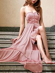 Liebe TT Damenmode New Delicate Unregelmäßige Pure Color Kleid 1690