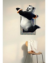 Der Panda 3D Wandaufkleber Wandaufkleber