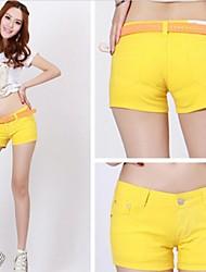 Neue koreanische Art-Sommer-Frauen Logo Pinkycolor Hot-pants Lässige Shorts Washed schlanker aussehen