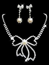 de noiva da dama de honra colar de cristal conjunto de jóias brincos
