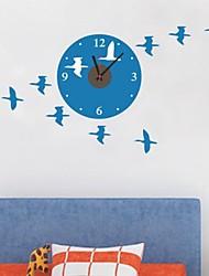 Animals Flying Bird Clock Wall Stickers