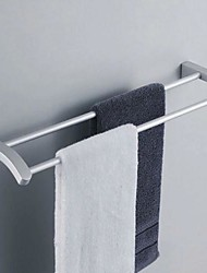 Contemporary Aluminum Double Pole Towel Bars