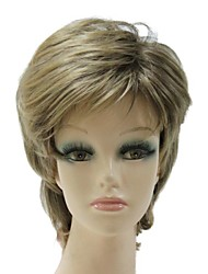 Sexy Women Wig Capless Synthetic Mixed Color Short Full Wig