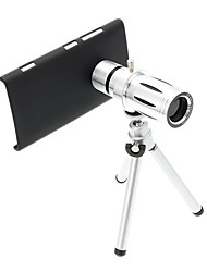 Zoom 12X Telephoto Metal Cellphone Lens with Tripod for Nokia Lumia 920