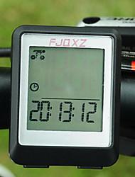 FJQXZ Waterproof LCD Wired Preto bicicleta Velocímetro / cronômetro