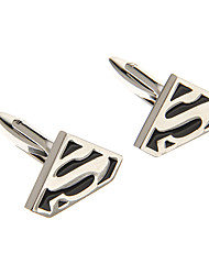 Fashion  S Symbol Shape Silver Alloy Cufflinks(1 Pair)