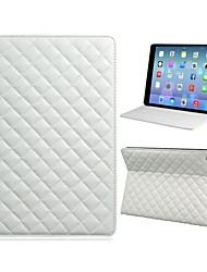 Soft-Grid-Muster Schutz PU-Leder Ganzkörper-Fall mit TPU Tasche und Ständer für iPad Air (verschiedene Farben)